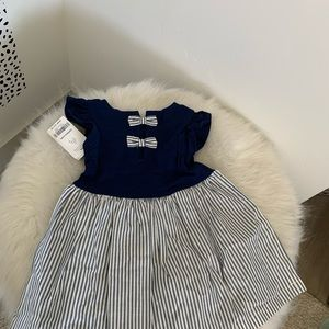 NWT Carter's Baby Girl Striped outfit Dress Set